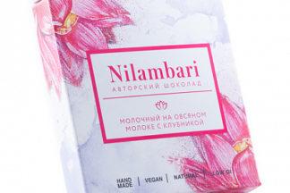 """Шоколад на овсяном молоке """"Клубника"""" Nilambari"""