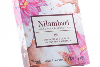 "Шоколад горький ""Миндаль и изюм"" Nilambari"