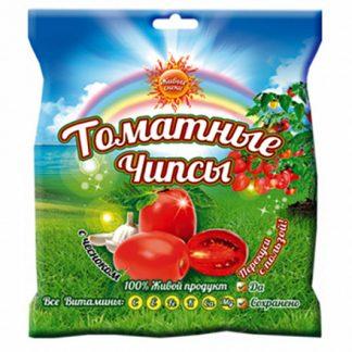 """Чипсы томатные """"С чесноком"""" Живые снеки"""