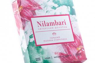 Шоколад горький малина-спирулина Nilambari