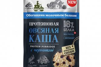 """Каша протеиновая """"Овсяная с черникой"""" Bionova"""