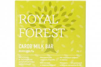 "Шоколад ""Миндаль"" Carob milk bar Royal Forest"