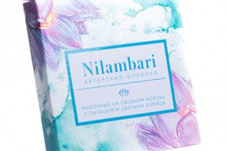 """Шоколад на овсяном молоке """"Пыльца и цветы корицы"""" Nilambari"""