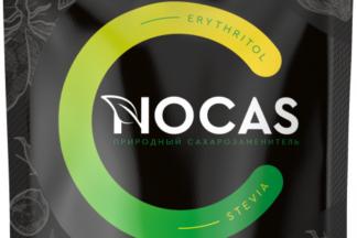 Сахарозаменитель (эритритол, стевия) 300 гр. Nocas