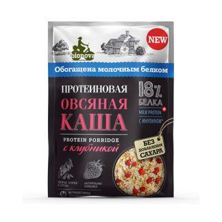 """Каша протеиновая """"Овсяная с клубникой"""" Bionova"""