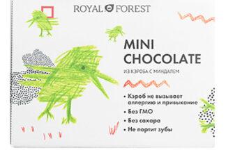 Шоколад из кэроба с миндалем, мини Royal Forest