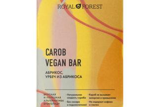 "Шоколад ""Carob Vegan Bar"" Абрикос, урбеч абрикосовый Royal Forest"