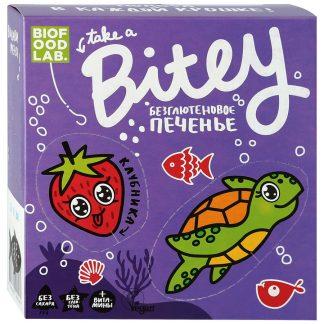 Bitey печенье безглютеновое клубника