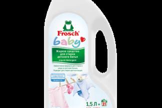 Жидкое средство для стирки детского белья Frosch baby 1,5л