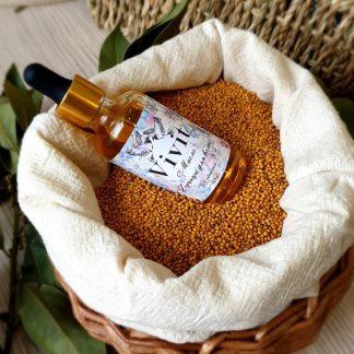 Сыродавленное масло горчицы для волос Vivit