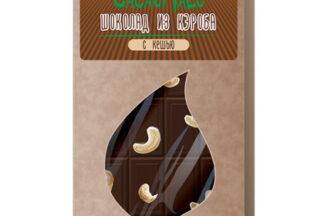 Шоколад из Кэроба необжаренного с кешью, 85гр.