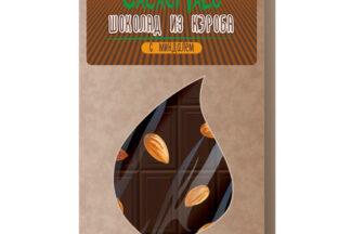 Шоколад из Кэроба необжаренного с миндалем 85гр.