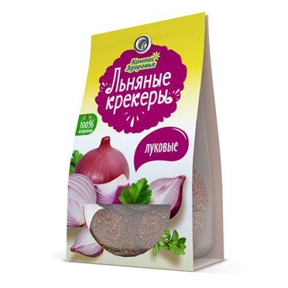 Крекеры льняные с луком 50гр Компас здоровья