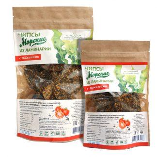 Чипсы Морские из ламинарии с томатами 50гр Здоровцов